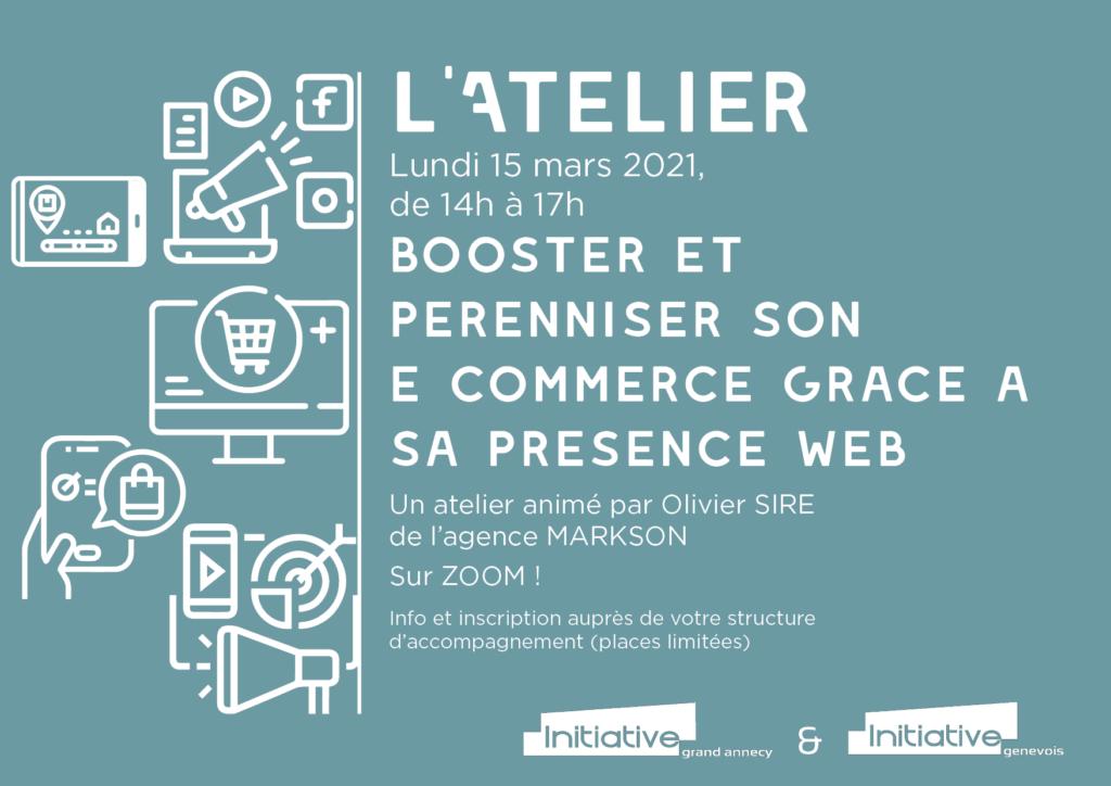 INVITATION_LATELIER 2021_03_15_Booster et pereniser son e- commerce grâce à le présence web